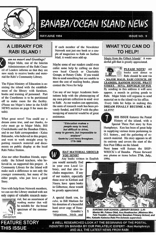 No. 9 Banaba/Ocean Island News May-Jun 1994