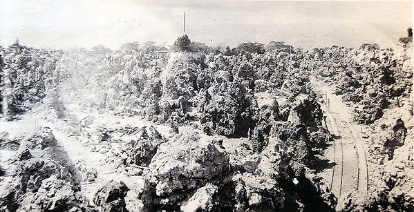 Phosphate mining on Banaba early 1920s