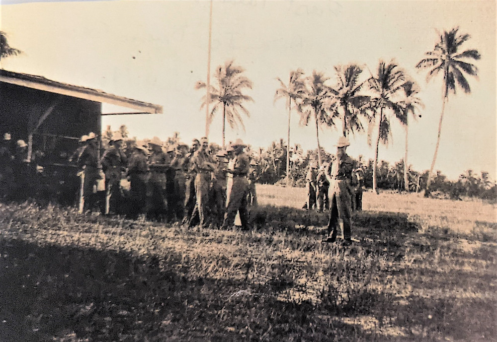 First Parade Ocean Island Defence Force Banaba 1940