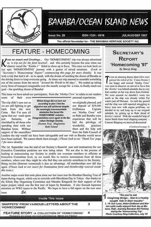 No. 26 Banaba/Ocean Island News Jun-Jul-Aug 1997