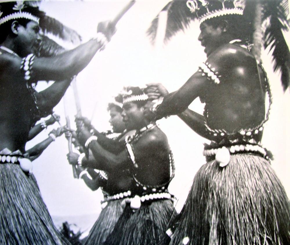Raobeia Ken Sigrah performing traditional dance Rabi 1975.