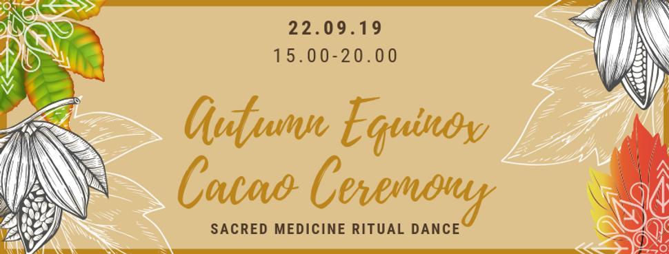 Autumn Equinox Cacao Ceremony Graphic Ba