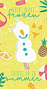 Olaf Frozen Summer iPhone Wallpaper
