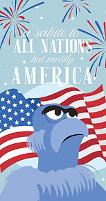 Sam Eagle America iPhone Wallpaper