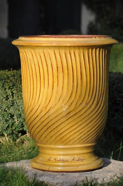 Grooved Anduze Pot Yellow