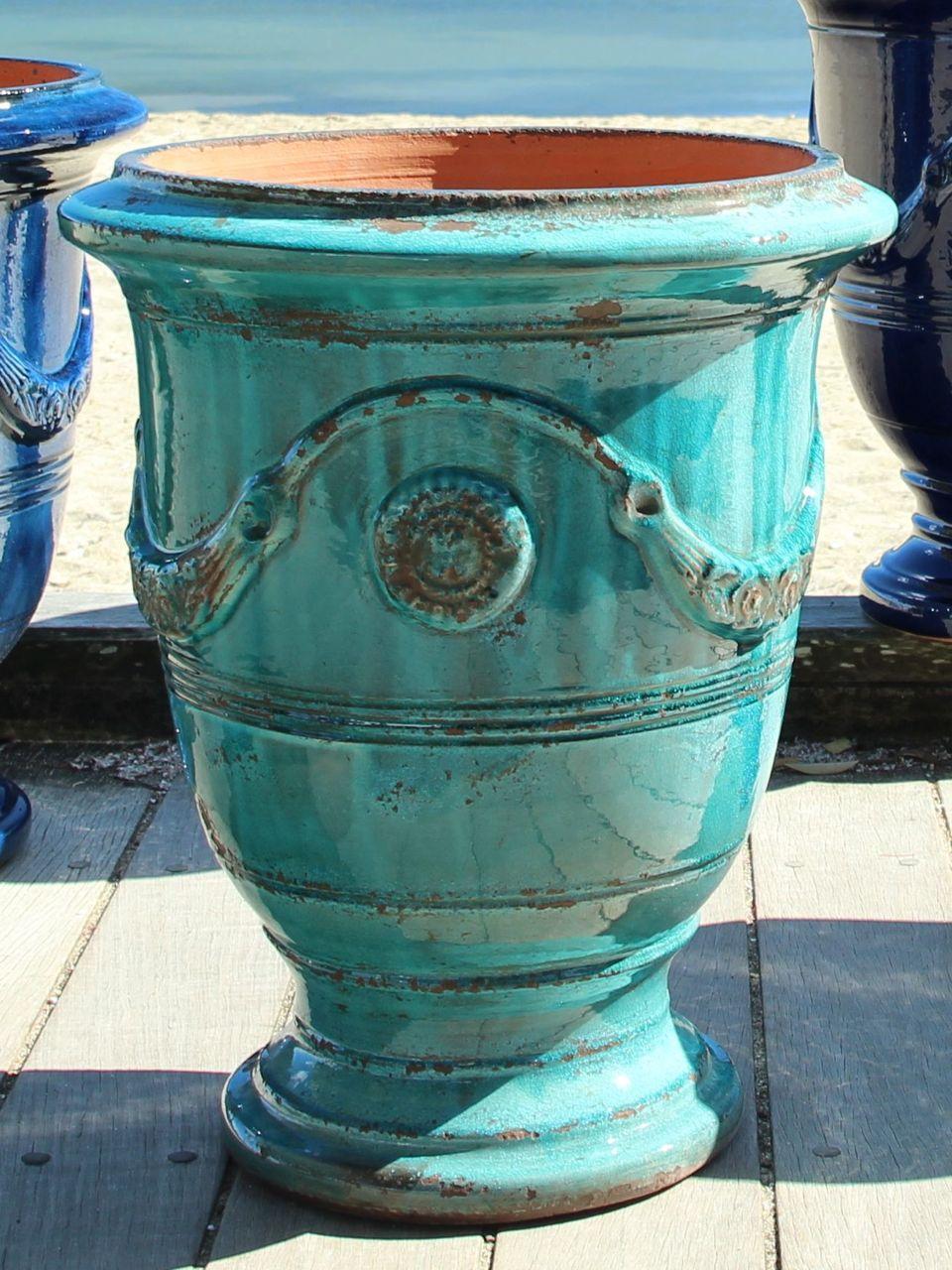 Anduze Pot Turquoise Patina