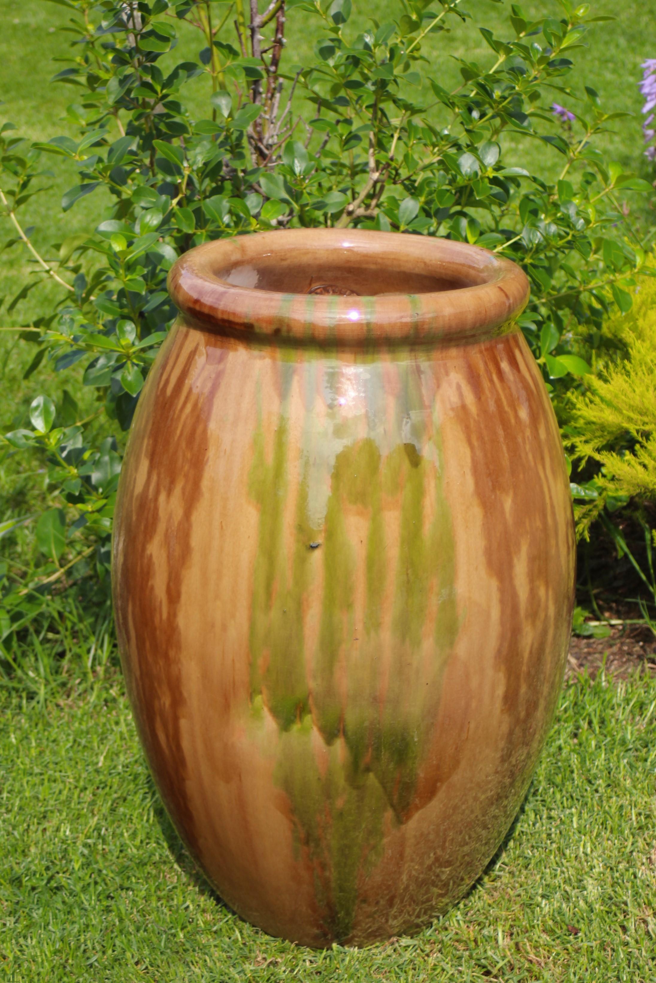 Oil Jar Olive Shape Flammed