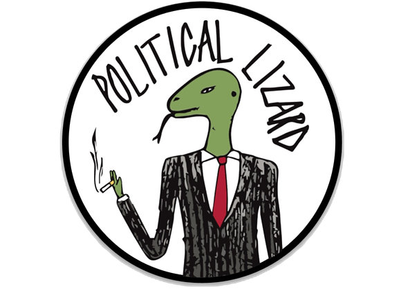 Political Lizard Logo Sticker