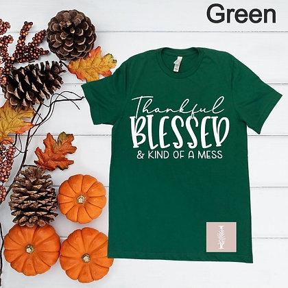"""Thankful Blessed"" Tee"
