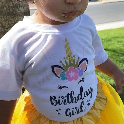 Birthday Girl Unicorn Shirt