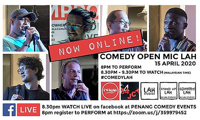 15th April is the next online open mic.