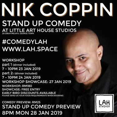 Workshops with Nik Coppin the comedian