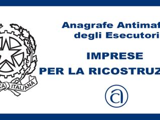 AVVISO: Iscrizione ANAGRAFE ANTIMAFIA degli ESECUTORI (AE)