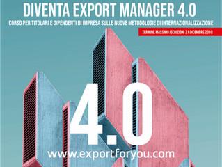 Diventa Export Manager 4.0                clicca sull'immagine per prenotare