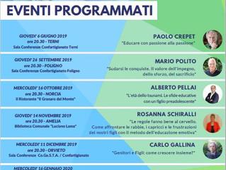 Prossima data a Foligno Mario polito Scuola per genitori - programma eventi