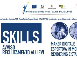 """"""" CHIUSE LE ISCRIZIONI """"Maker Digitale-Esperto/a in modellazione digitale, rendering e stampa 3D"""""""
