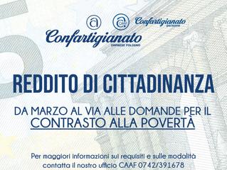 REDDITO DI CITTADINANZA: NEWS