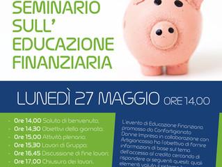 Sei una Impresa al femminile partecipa al seminario sull'educazione finanziaria