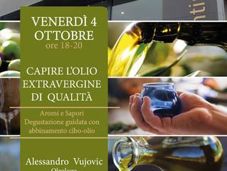 Capire l'olio extra vergine di oliva. Degustazione cibo e olio