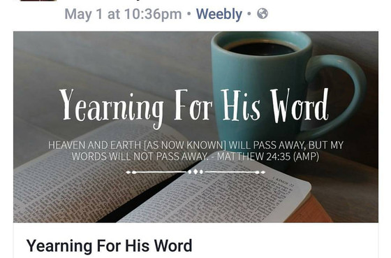Yearning For His Word