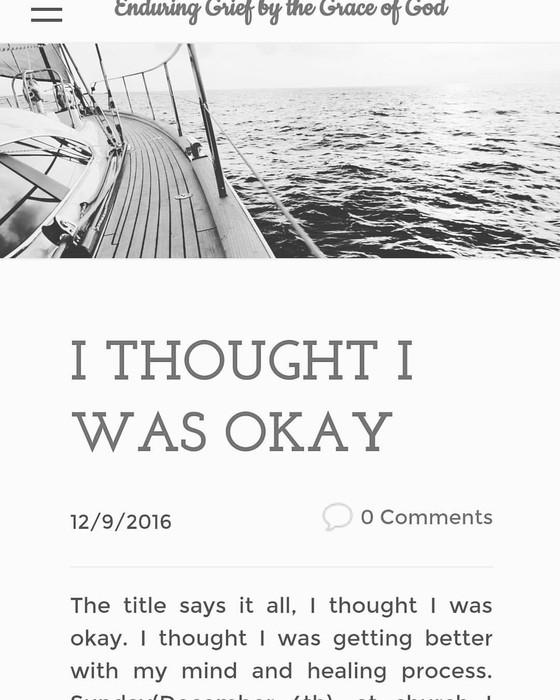 I Thought I Was Okay