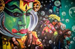 Streetart Kovalam Indien
