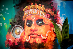 Streetart Indien