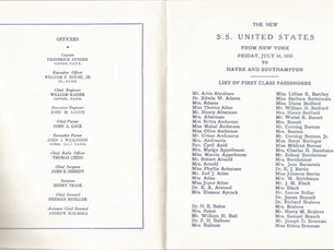 Do You Own an SS United States passenger list?