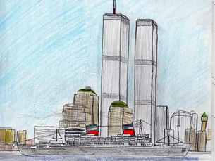 A young artist and SS United States supporter's 9/11 tribute