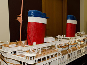 Artist Constructs Toothpick Sculpture of SS United States' Sister Ship, SS America