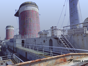 Gibbs & Cox's 3D laser scans of the SS United States (Part 6)
