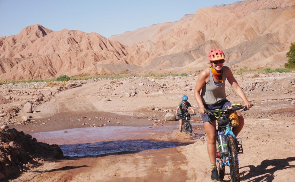 Forging rivers in San Pedro de Atacama.