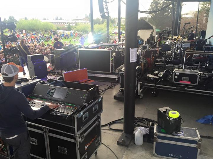 I have never seen this much gear on a stage before! 2 full tours and an opener