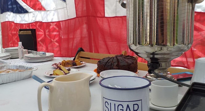 Tea Tent Set Up