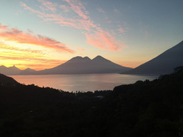 Evening Views of the lake and volcano