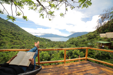 View from Private Forest Cabin