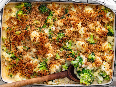 Vegan Cauliflower & Broccoli Bake