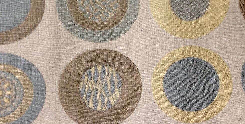 Designer Doodle Dots - Blue Yellow & Brown