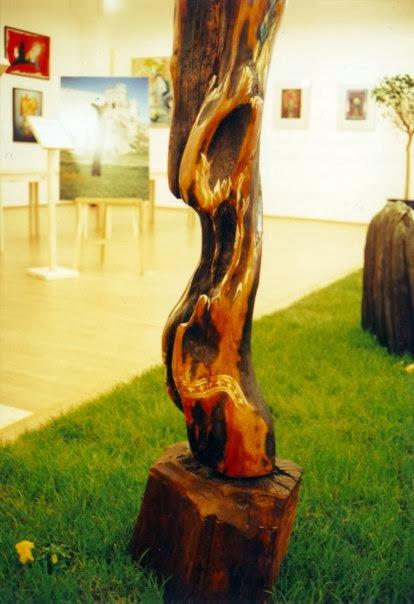 Anjel, detail, polychromia- Mgr.art. Peter Mészároš