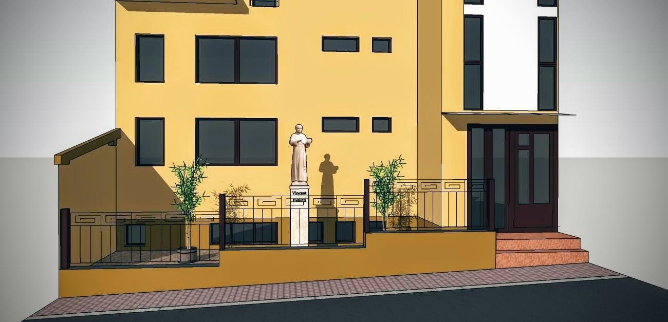 Vizualizácia umiestnenia sochy.