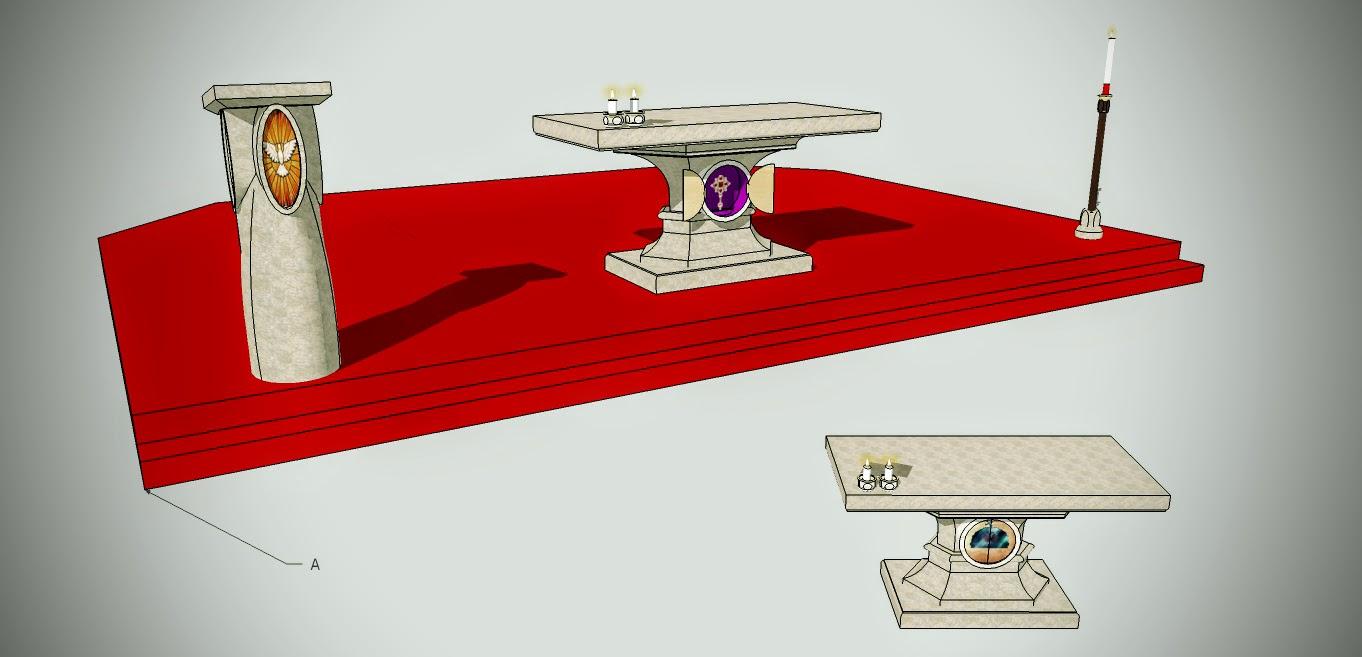 Návrh, kazaťeľnica, oltár, verzia1.