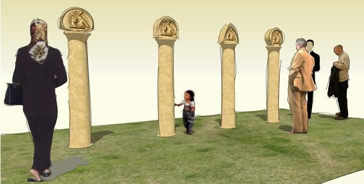 Návrhy pilierov krížovej cesty.