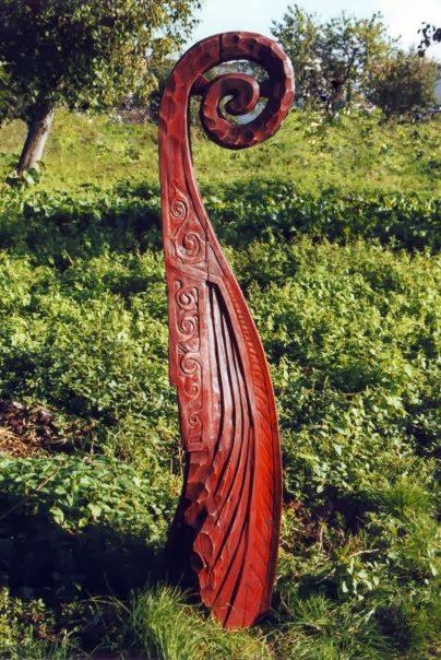 Viking, drevorezba.