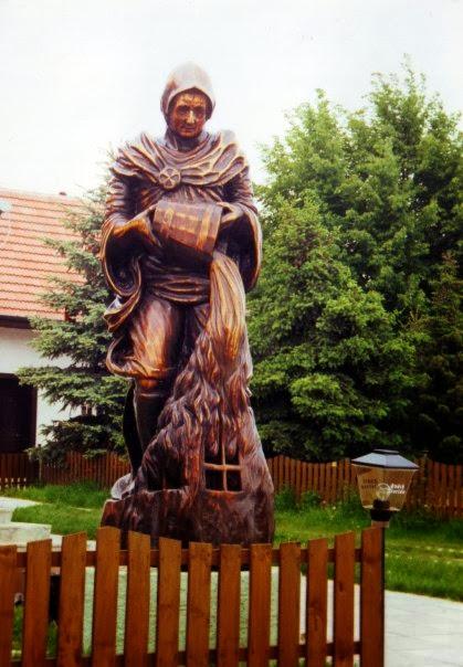 Sv. Florián, drevorezba.