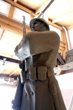 Model sochy vojaka.