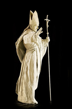 Pápež Ján Pavol II. model.