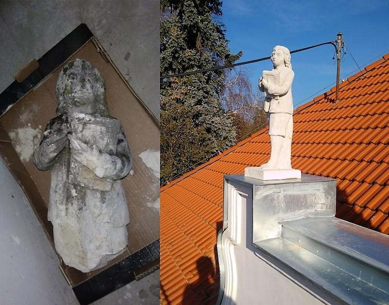 Fasádne prvky, socha 1, obec Igram