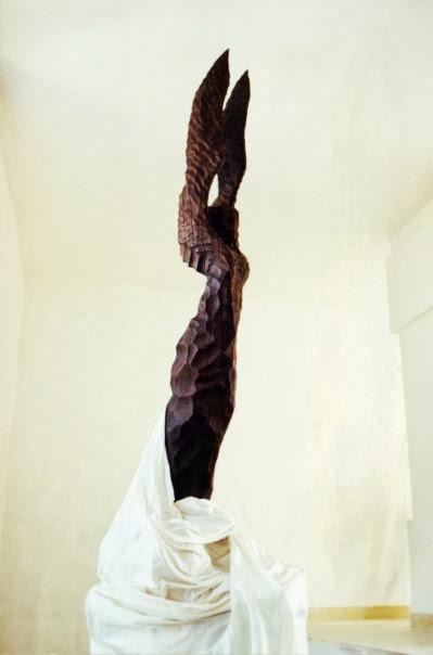 Anjel, drevorezba.
