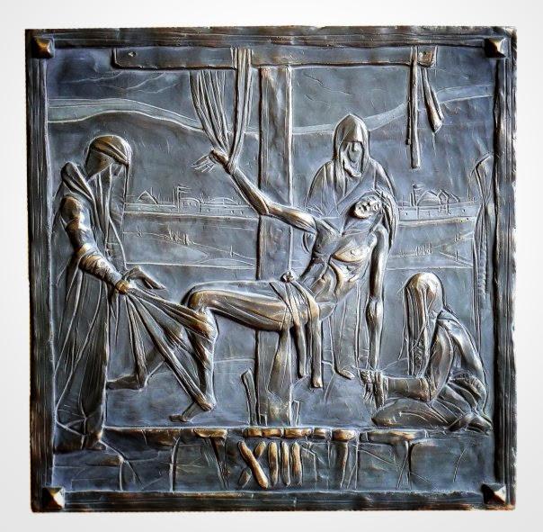 Krížová cesta, reliéf XIII