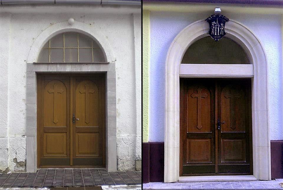 Nový portál, kostol Kozárovce